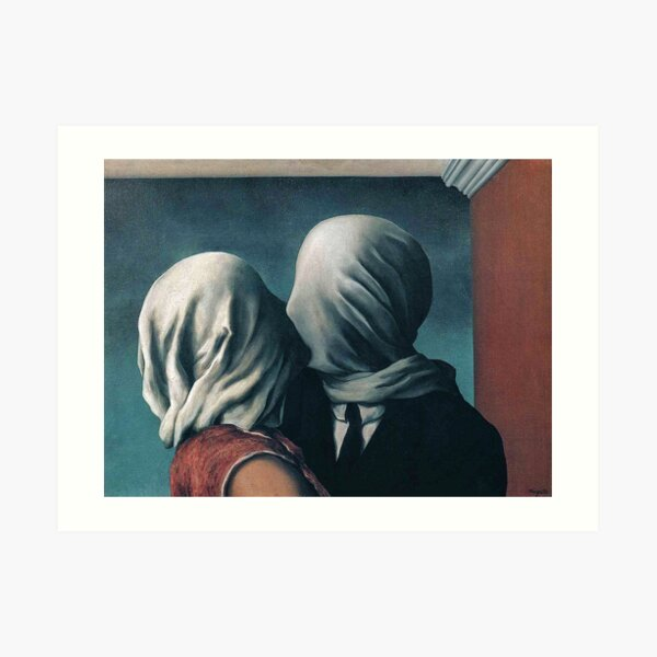 Los amantes de Rene Magritte Lámina artística