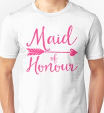 Maid Of Honour Wedding Quote T-Shirt