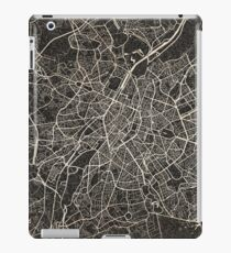 Brussels map ink lines iPad Case/Skin