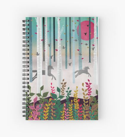 Flying Horses Spiral Notebook