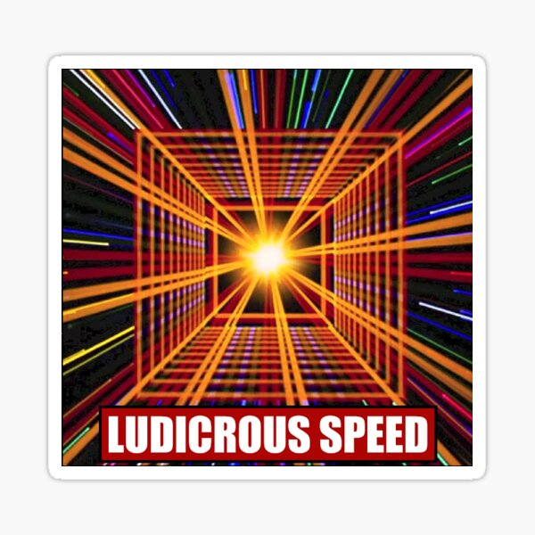 spaceballs ludicrous speed plaid Sticker