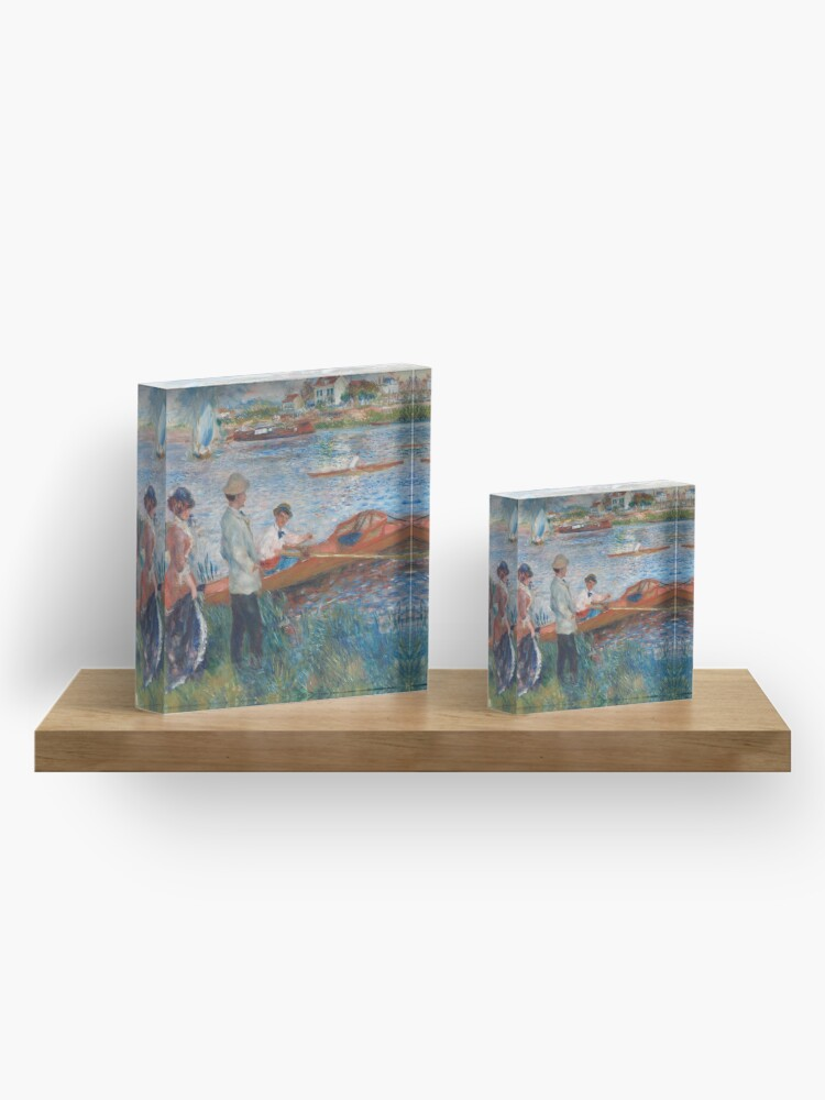 Alternate view of Oarsmen at Chatou Painting by Auguste Renoir Acrylic Block