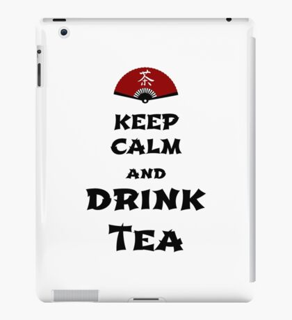 keep calm and drink tea iPad-Hülle & Skin