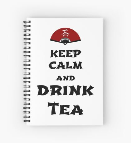 keep calm and drink tea Spiralblock