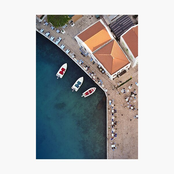 Picturesque Kastellorizo from above Photographic Print