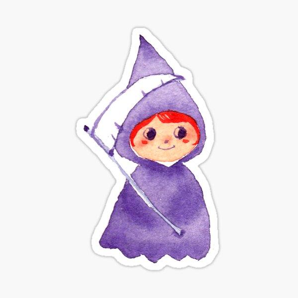 Cute Grim Reaper Sticker