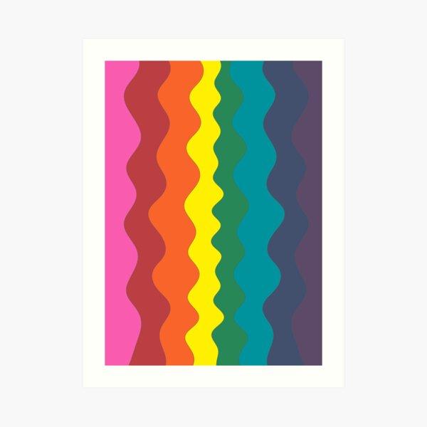 Pride Waves Art Print