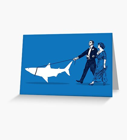 Walking the Shark Greeting Card