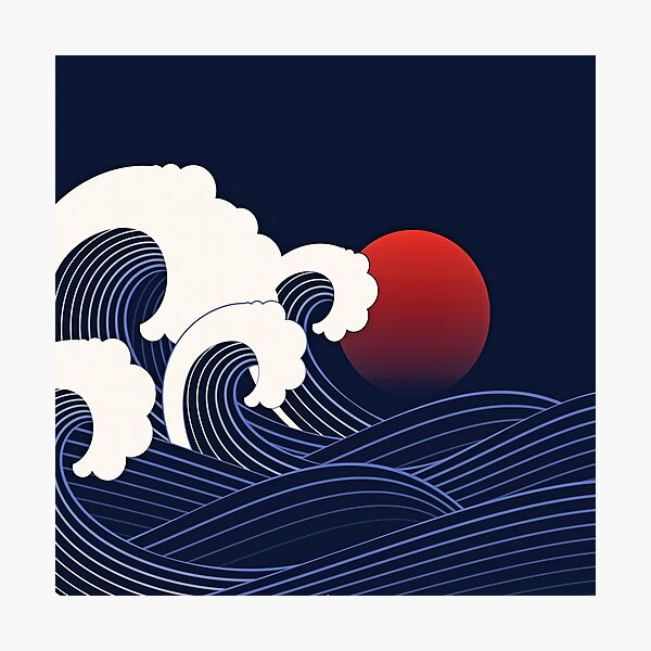 The Great Japanese Wave Photographic Print