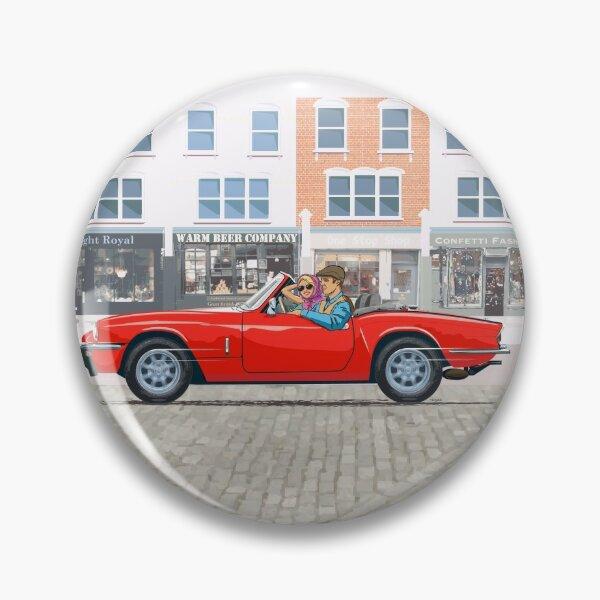 Pimento Red coloured Triumph Spitfire 1500 with Minilite style wheels Pin