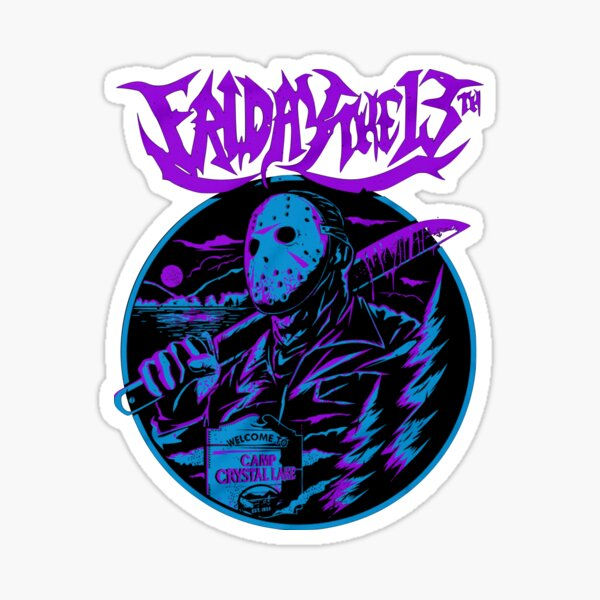 Jason Voorhees Friday the 13th Sticker