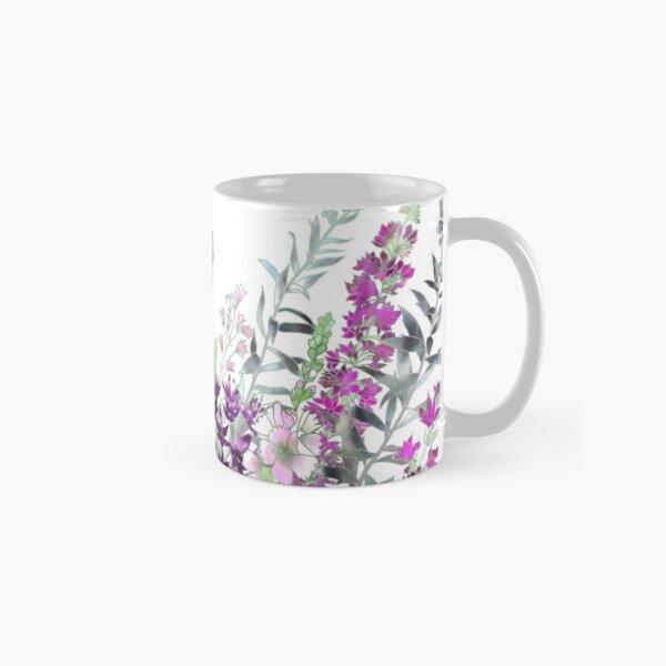 Pink Flower Garden - Sidalcea, Alliums & Purple Loosestrife Classic Mug