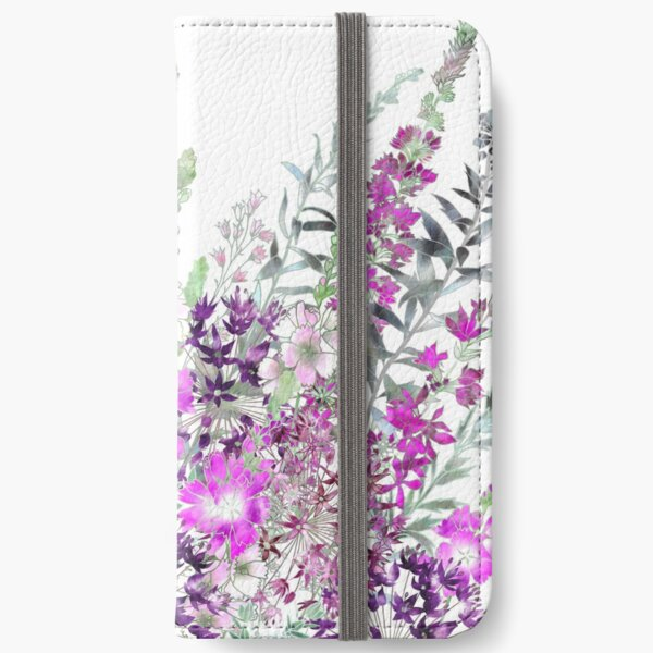 Pink Flower Garden - Sidalcea, Alliums & Purple Loosestrife iPhone Wallet