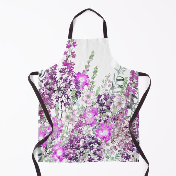 Pink Flower Garden - Sidalcea, Alliums & Purple Loosestrife Apron
