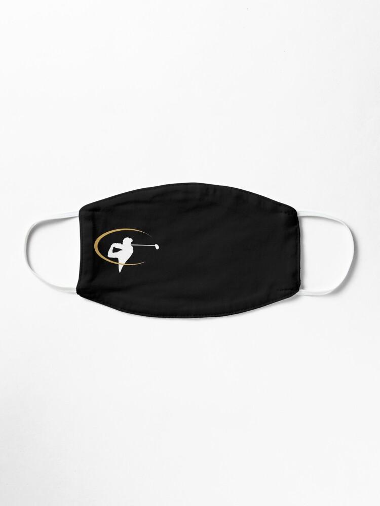 Alternate view of Golfer   Golf   Golfing   Face Mask   Black Mask