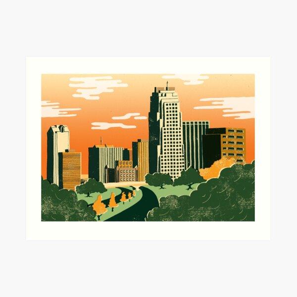 Raleigh, North Carolina Art Print