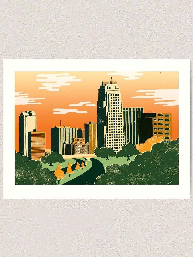 Alternate view of Raleigh, North Carolina Art Print