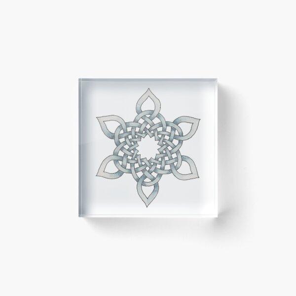 Celtic Knotwork Snowflake Acrylic Block