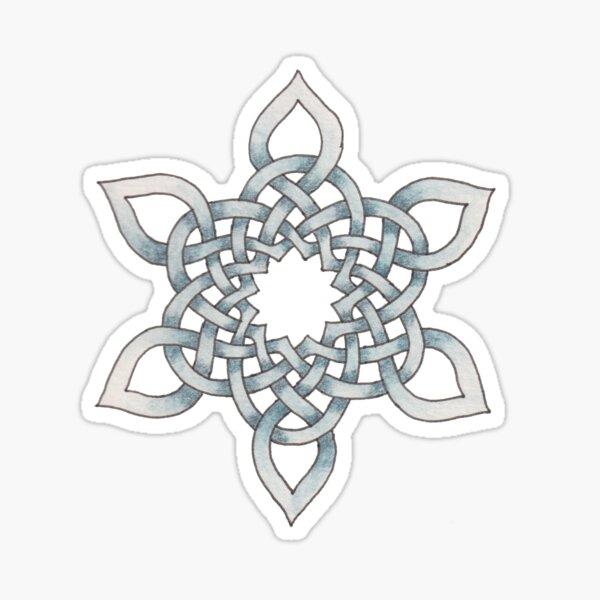 Celtic Knotwork Snowflake Sticker