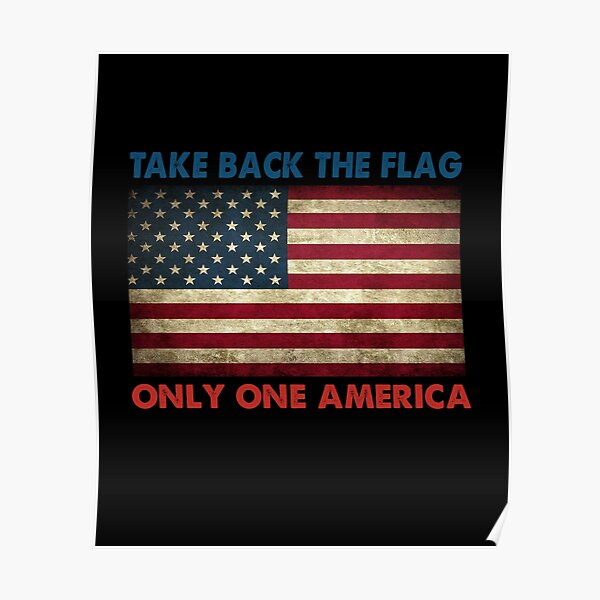 Take back the Flag Only One America Vintage Poster
