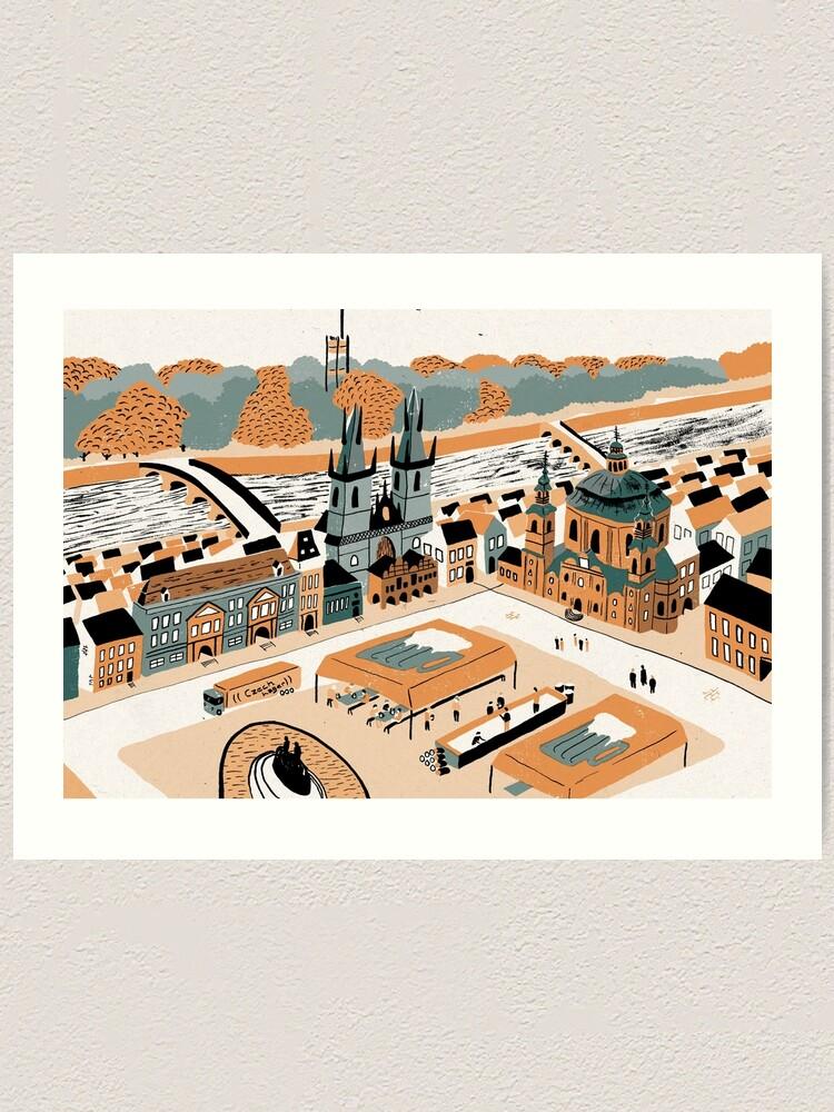 Alternate view of Prague Art Print