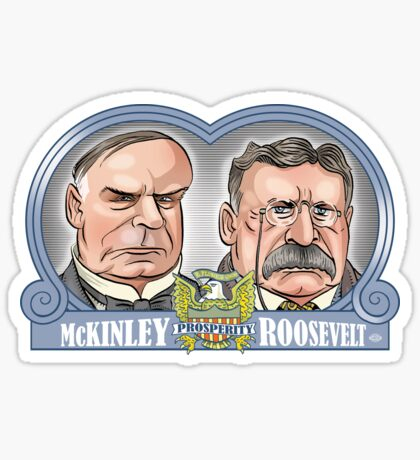 McKinley/Roosevelt Ticket Sticker