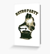 Retro Party with  Gramophone Greeting Card