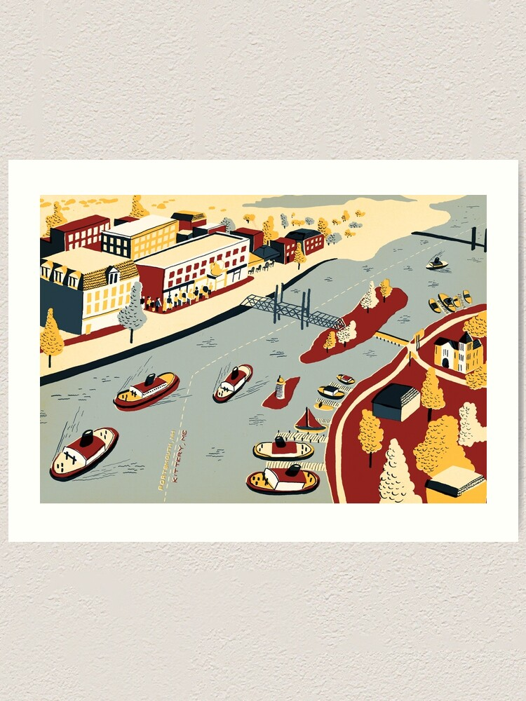 Alternate view of Portsmouth & Kittery Art Print