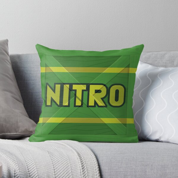 Nitro crate Throw Pillow
