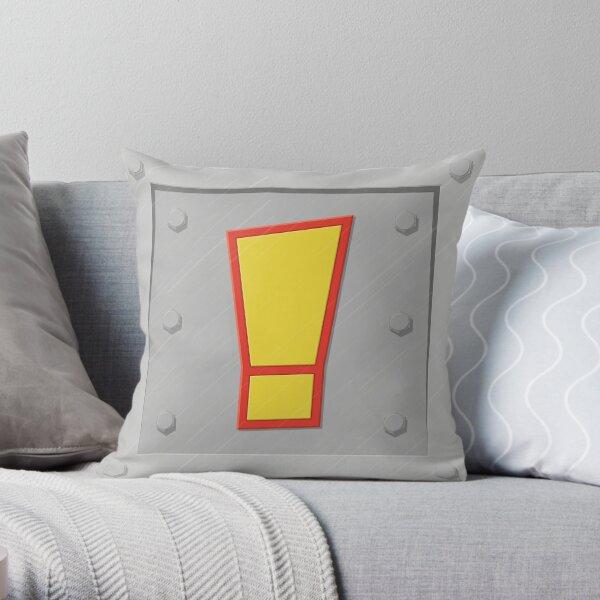 Crash exclamation crate Throw Pillow