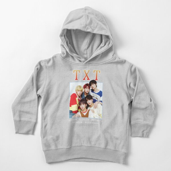 TXT Tomorrow x Together CUTE Vintage 90s Band Tee Toddler Pullover Hoodie