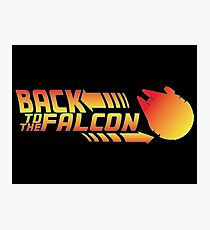 Back to the falcon Photographic Print