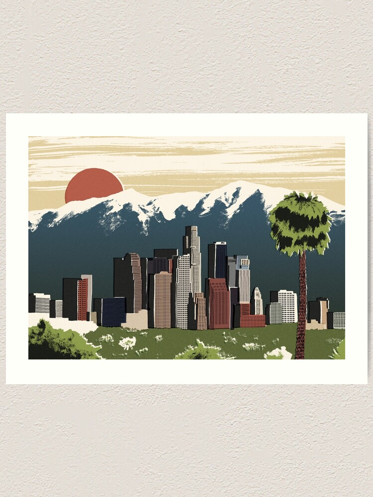 Alternate view of Los Angeles Art Print