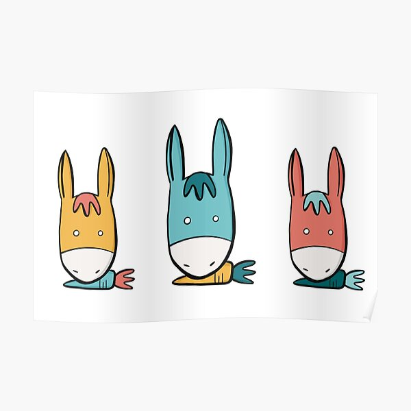 Carrot donkey Poster