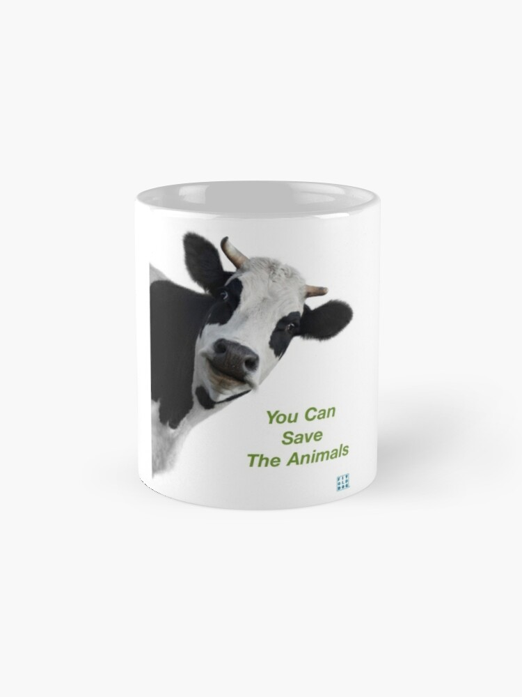 Alternate view of Crazy Cow You Can Save The Animals Mug