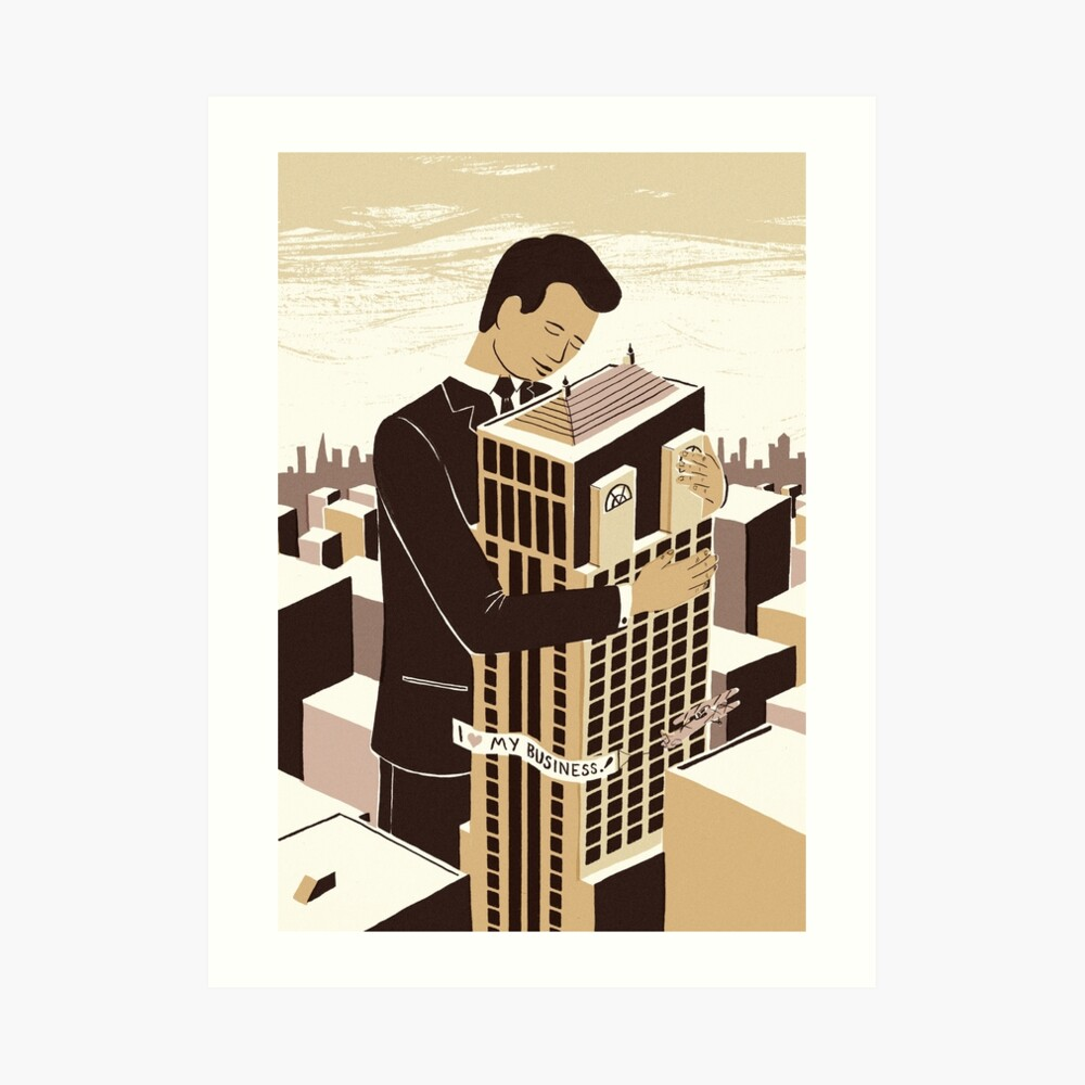 The love between a man and his building Art Print
