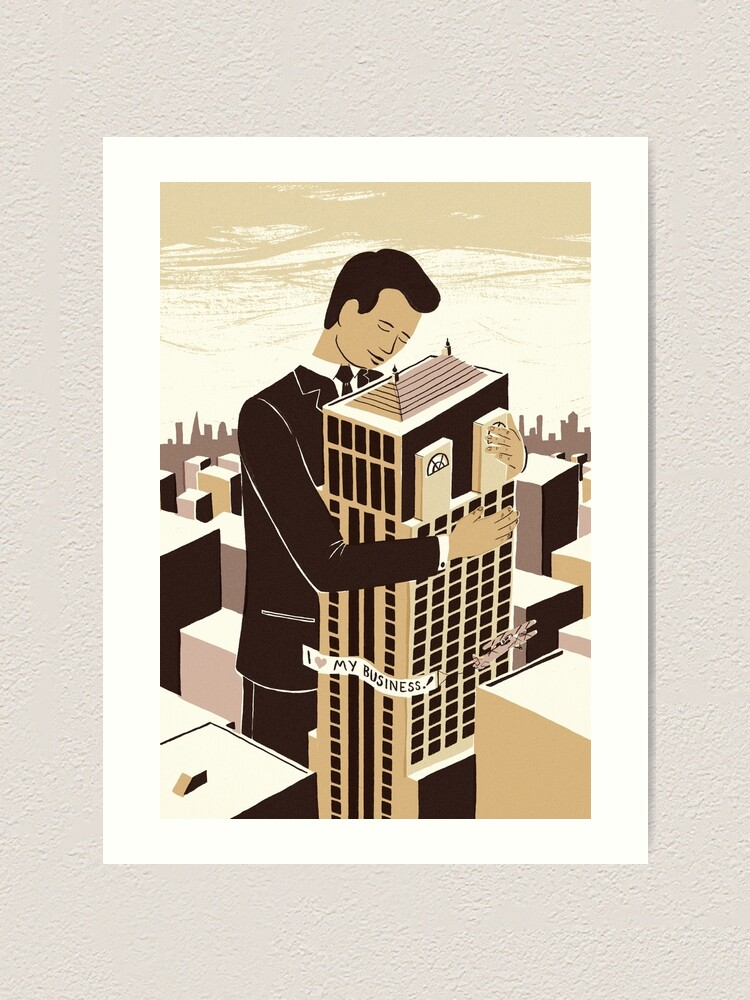 Alternate view of The love between a man and his building Art Print