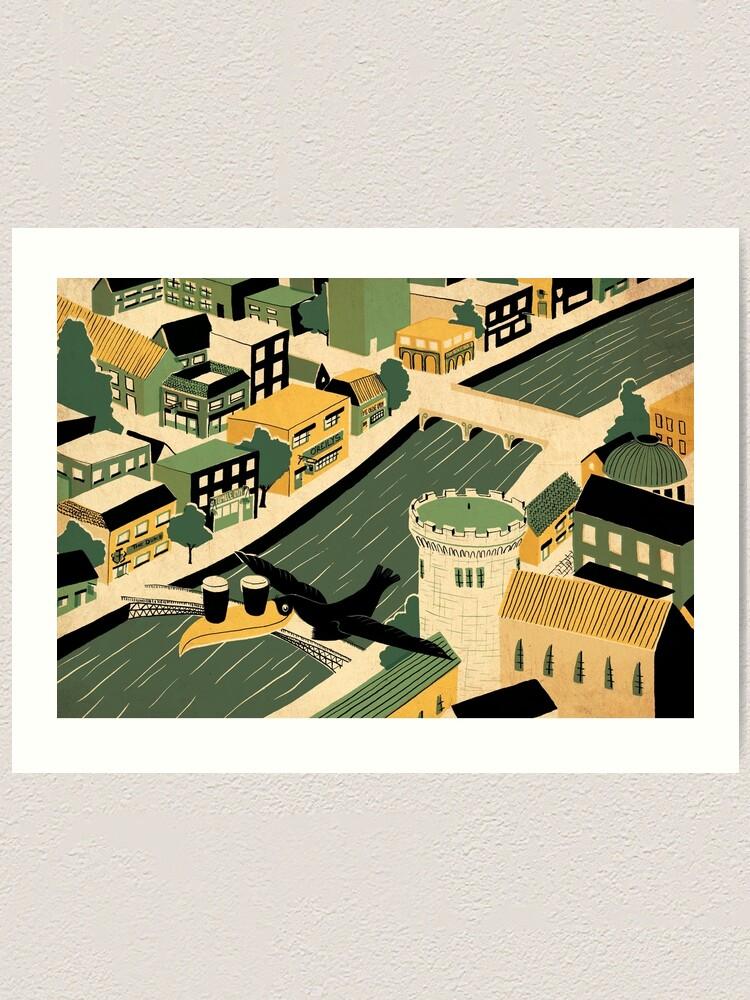 Alternate view of Dublin Art Print