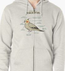 Anatomy of a Cockatiel Zipped Hoodie