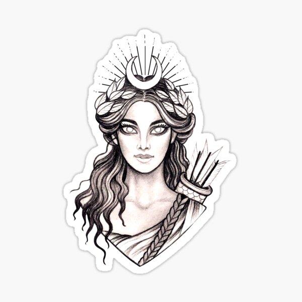 Artemis Hunt Goddess - Greek Mythology Ancient Greece Hunter Sticker