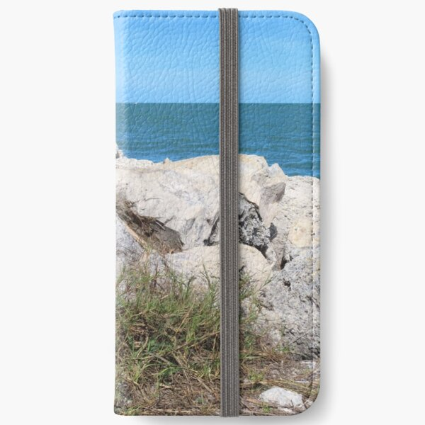 Boulders along the Gulf of Mexico iPhone Wallet