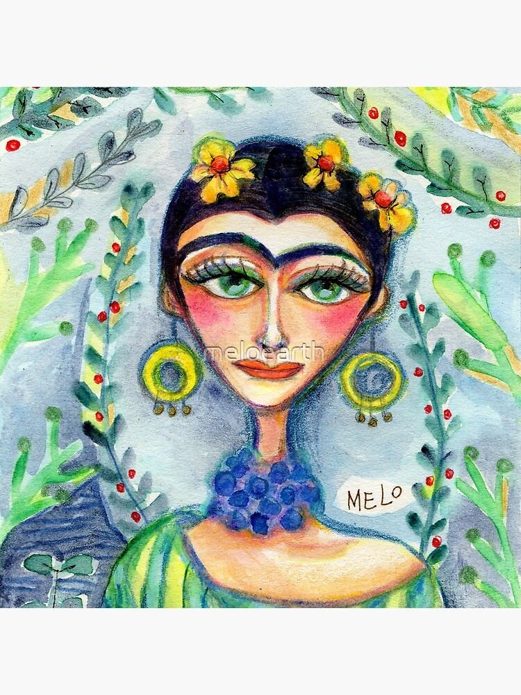 Frida in her Garden  by meloearth