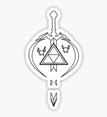 Master Sword Zelda Navi Tael Link Triforce Sticker