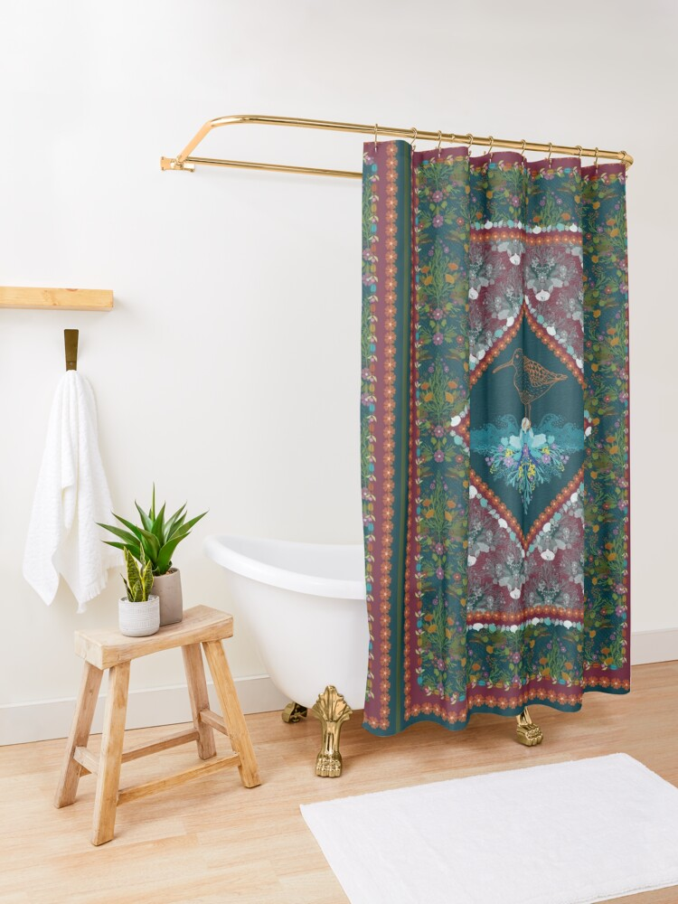 Alternate view of Earth and Water Shower Curtain