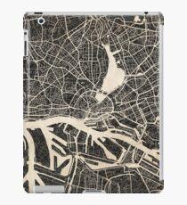 Hamburg map ink lines iPad Case/Skin