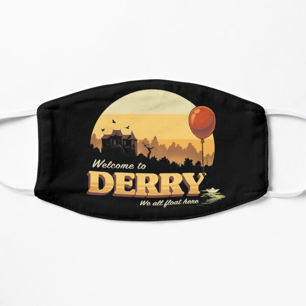 Welcome to Derry - IT Terror Movie Book - Horror Killer Clown Flat Mask