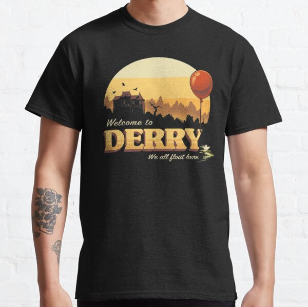 Welcome to Derry - IT Terror Movie Book - Horror Killer Clown Classic T-Shirt