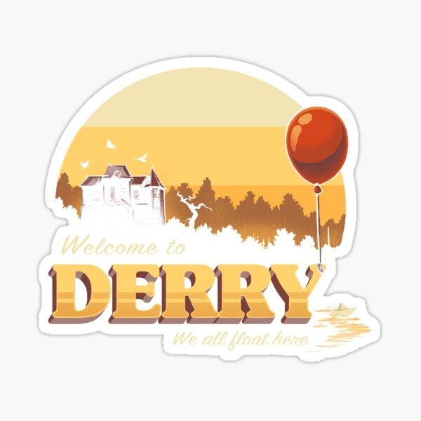 Welcome to Derry - IT Terror Movie Book - Horror Killer Clown Sticker