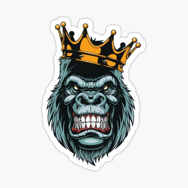 Gorilla King Sticker