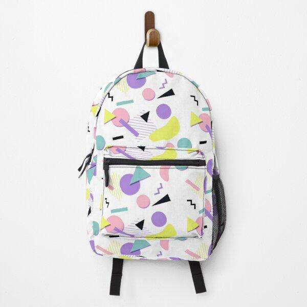 80s Retro Shapes - white Backpack